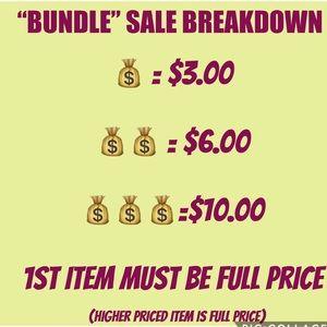 🚨🚨AMAZING DEAL $3/ $6 /$10!!! BUNDLE SALE🚨🚨